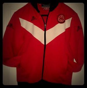 Rare KAPPA red track suit JACKET MENS L large
